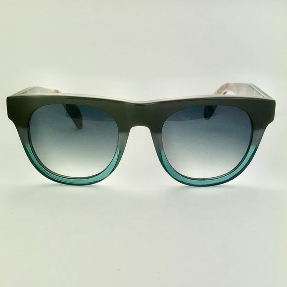 George Gina & Lucy Eyeronic Grey Green Sunglasses