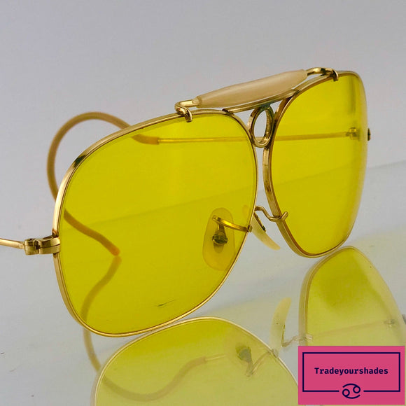Bausch & Lomb Ray Ban Decot Shooter Kalichrome Vintage 1960's Sunglasses gucci.