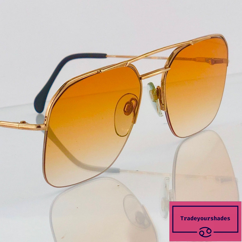La Frie Creation 18 Kt Gold 3000 GG Vintage Aviator 80's Sunglasses gucci.