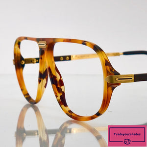 ROW Gold and Amber 2482 Optyl Vintage Eyeglasses