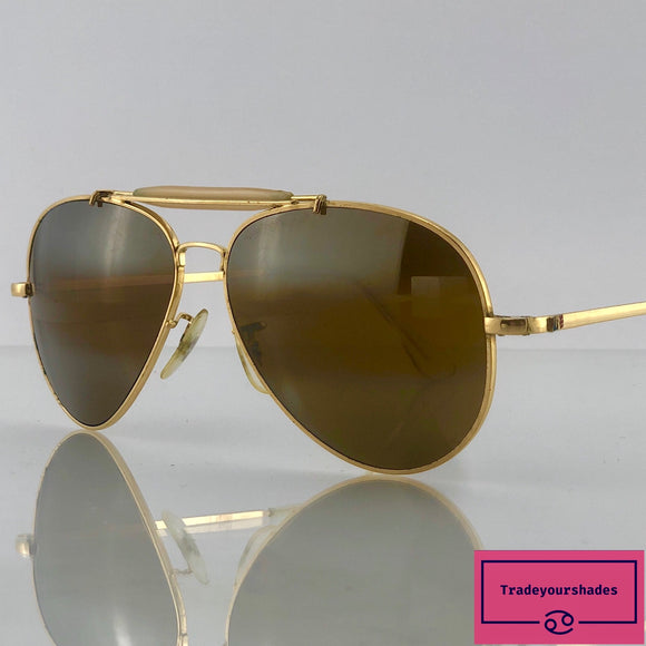 Vintage Randolph Engineering Aviator Sunglasses with 23 K Gold Plated Frames  1960's