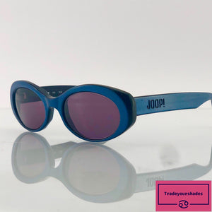 Joop 8708 Blue/Black Finish Oval Sunglasses gucci.