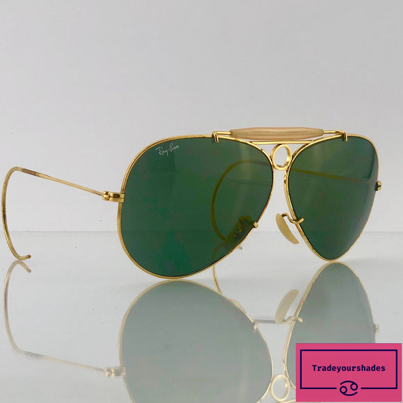 Bausch & Lomb Ray Ban Shooter Green Vintage 1960's/70's Sunglasses