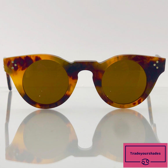 1960s BRITISH VINTAGE EYEWEAR 3DOT BOND DEMI AMBER HAND MADE IN ENGLAND gucci.