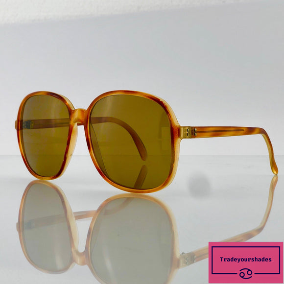 Vintage 1970's Oversize Red Amber Optyl Sunglasses Made in Germany