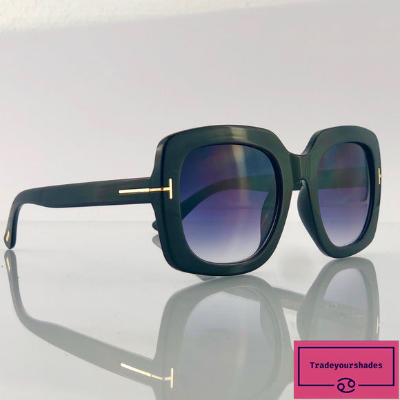 Tom Ford FT 0580 black/grey shaded Sunglasses
