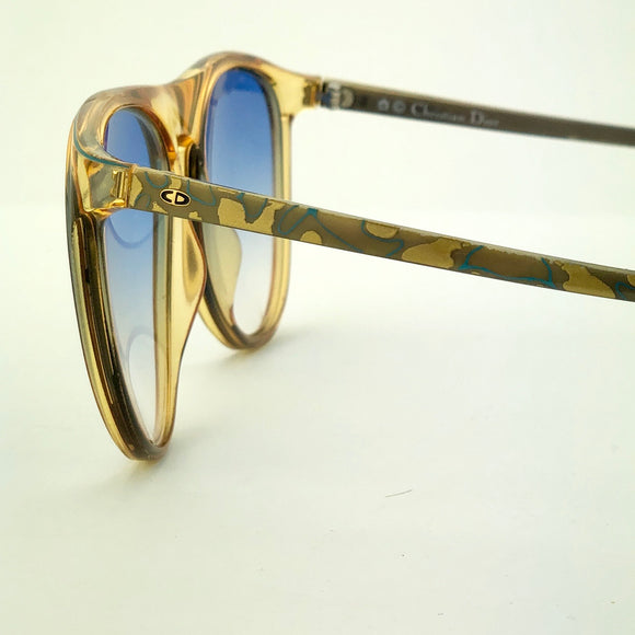Christian Dior Black & Gold Vintage Sunglasses
