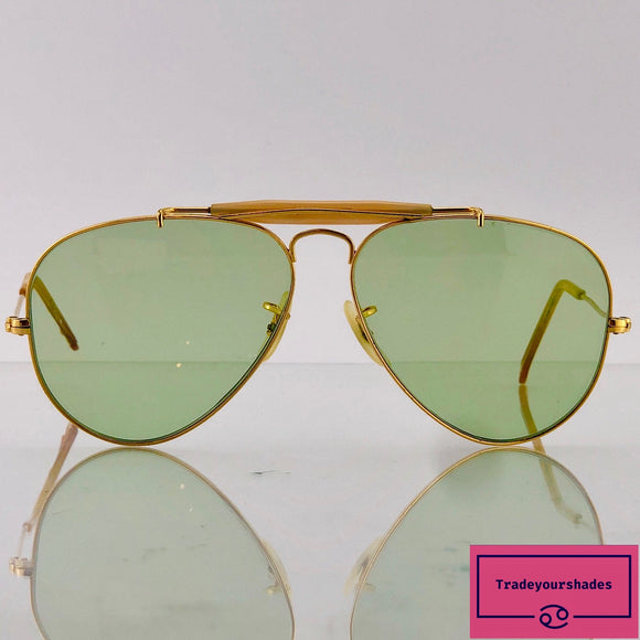 Bausch & Lomb Ray Ban Changeable Outdoorsman Green Aviator Sunglasses gucci.