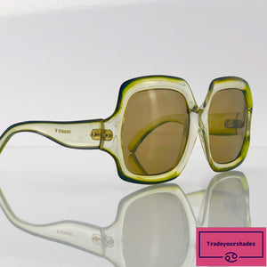 Jacques Fath Vintage 1970's Made in France Oversize Sunglasses