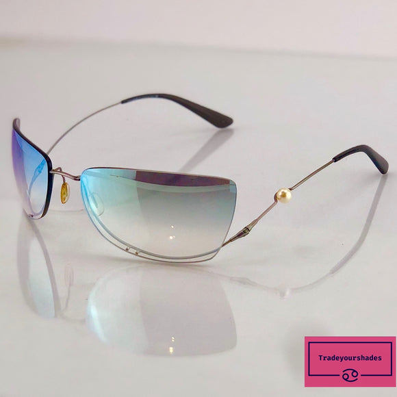 Chanel 4053H  Rimless Pearl Sunglasses gucci.