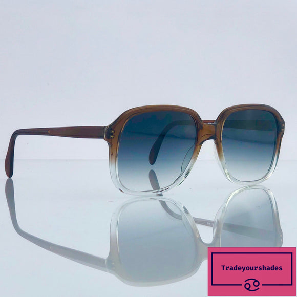 Metzler 4455 735 Rare  80's Sunglasses Grey Gradient gucci.