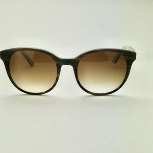 George Gina & Lucy Heyelife Brown Horn Sunglasses