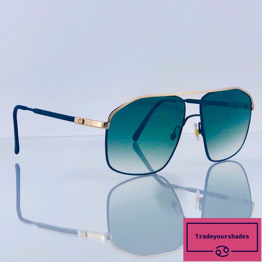 Dunhill 6104 Large Gold Plated Vintage Aviator Sunglasses gucci.