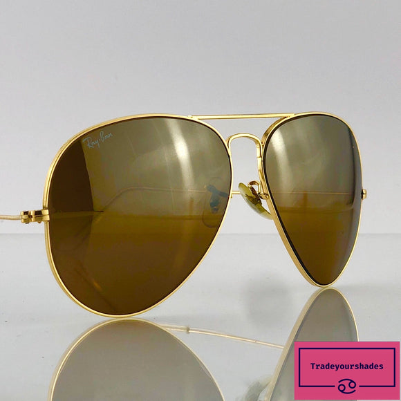 Bausch & Lomb Ray-Ban Driving 62mm Gold Aviator Sunglasses