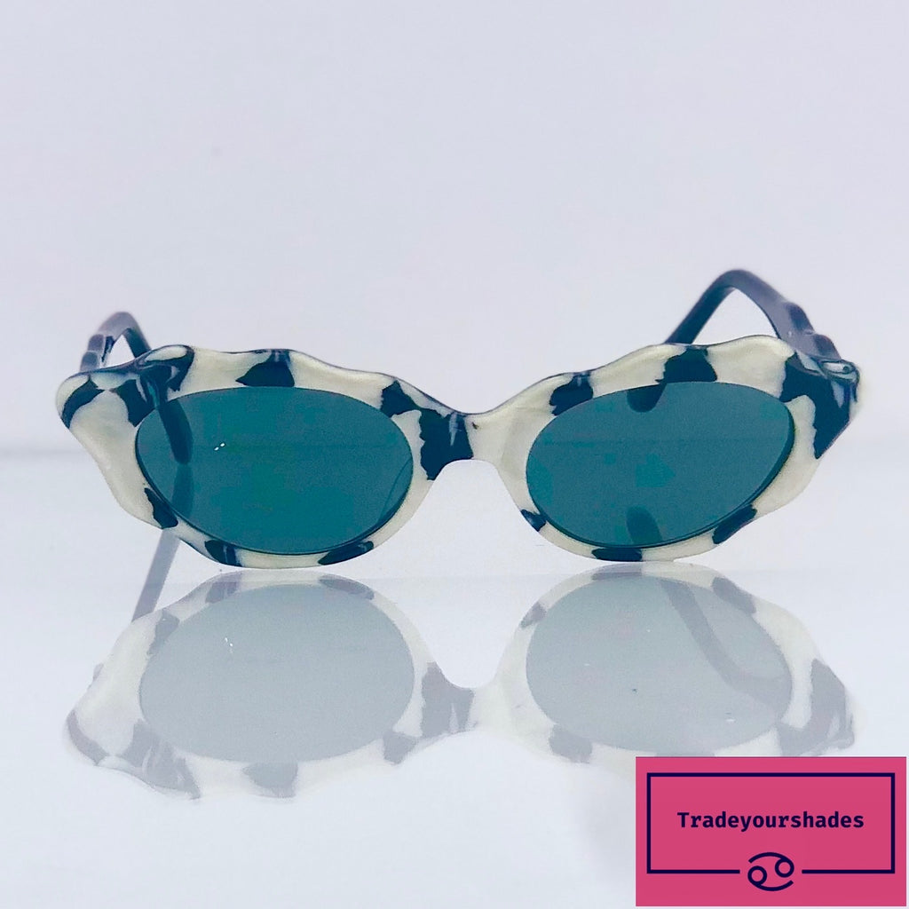 Sunlight Unique Hand Made Cat Eye Sunglasses 1990's