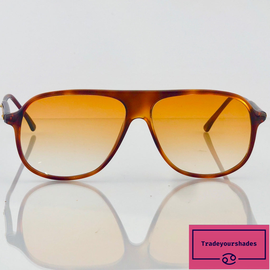 Gambini 456 Tortoiseshell Vintage Sunglasses made in Italy 80's gucci.
