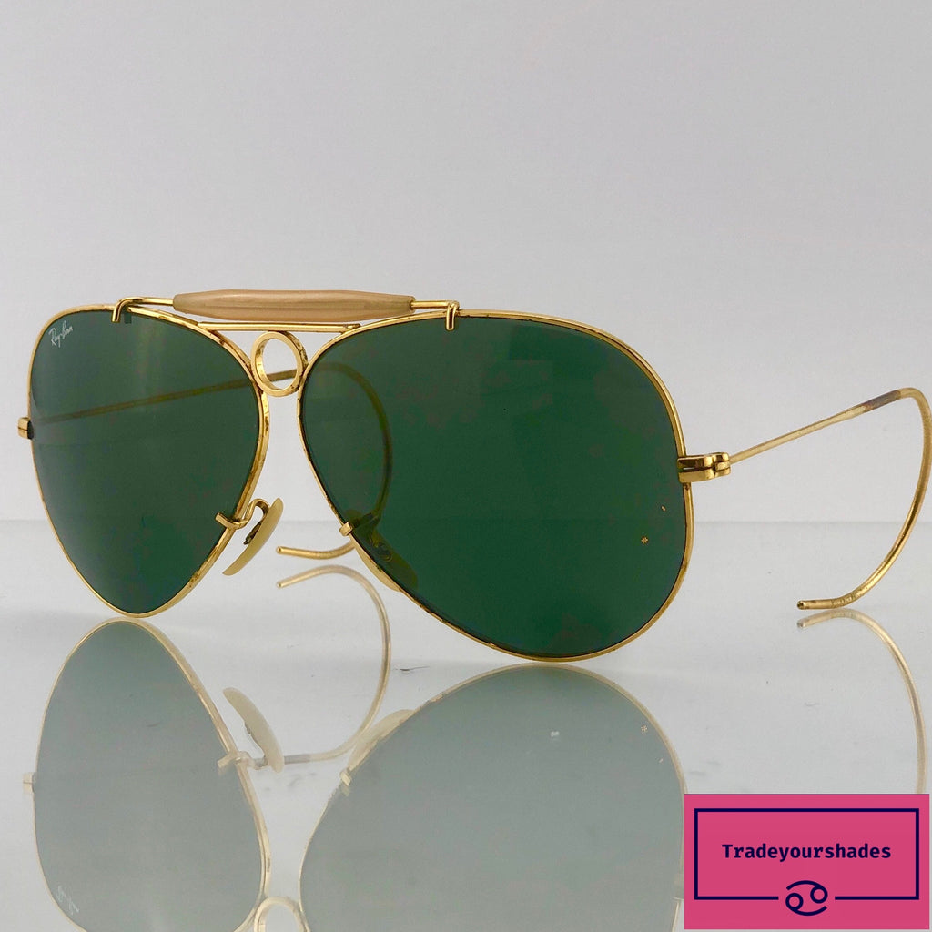Bausch & Lomb Ray Ban Shooter Green Vintage 1960's/70's Sunglasses gucci.