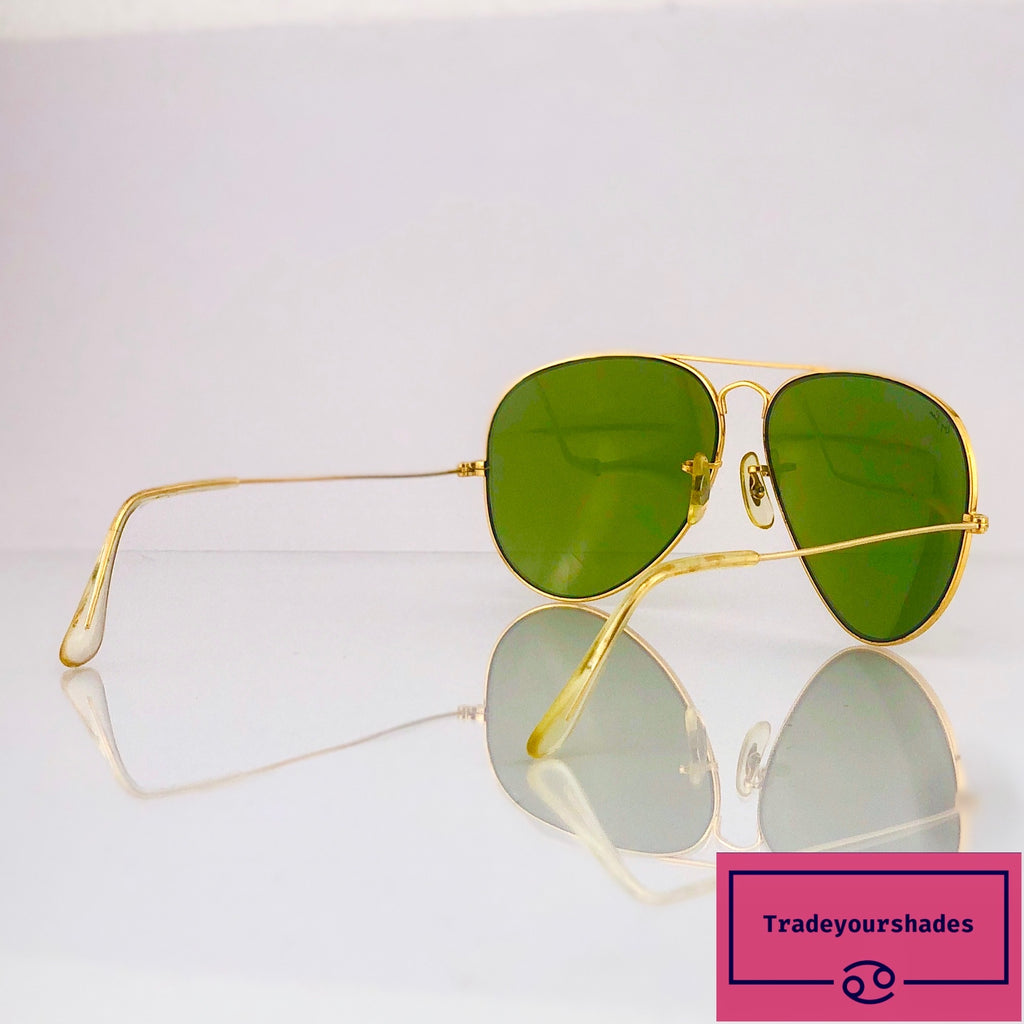 Bausch & Lomb Ray-Ban Driving 62mm Gold Aviator Sunglasses gucci.