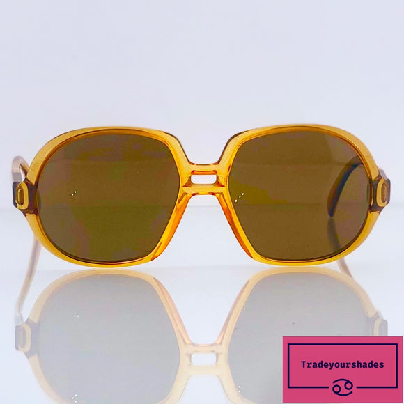 Saphira Optyl Amber Vintage Oversized Butterfly Sunglasses new old stock