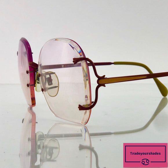 Neostyle Boutique 535 Rimless Oversized Haute Couture Vintage Eyeglasses