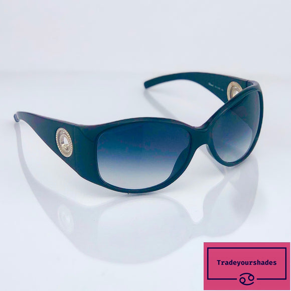 Chopard SCH 008S Oversized Wraparound Sunglasses with Swarovski Crystals inset in Temples gucci.