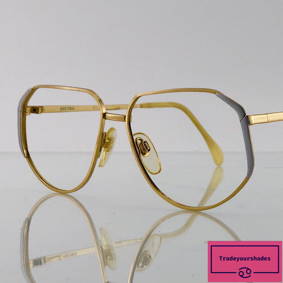 Metzler SEE YOU 302 Gold Titanium Vintage Eyeglasses