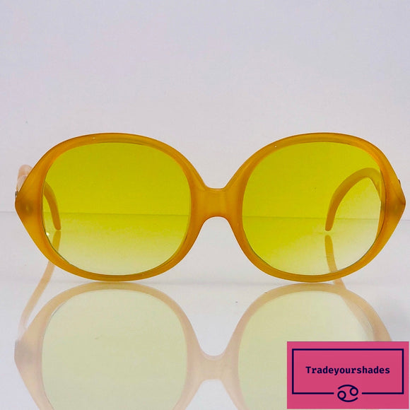 Rare Christian Dior Yellow Optyl Oversize 70's Vintage Sunglasses gucci.