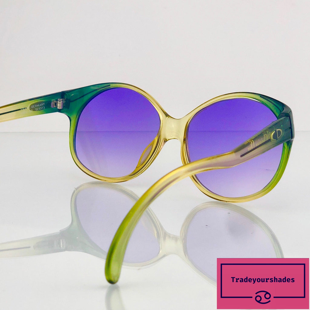 Christian Dior 2036 Green Yellow Vintage Sunglasses gucci.