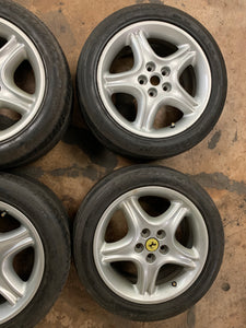 "Original Ferrari 456 17"" Rims And Tire Set"