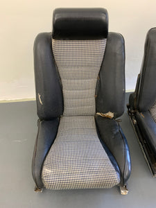 Porsche 911S Sport Authentic Recaro Sports Seats Set With Houndstooth Inserts