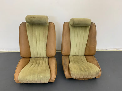 Porsche 911S Sport Authentic Recaro Sports Seats Yellow Set