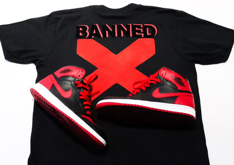 "Foot-Balla T-Shirt ""1985 ""Banned"" 1 Bred"