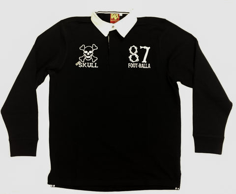 "Foot-Balla Rugby Shirt ""Rebel Skull"" - PRE ORDER"