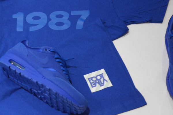"Foot-Balla T-Shirt - Tonal ""Anniversary "" Game royal Tee 2017"