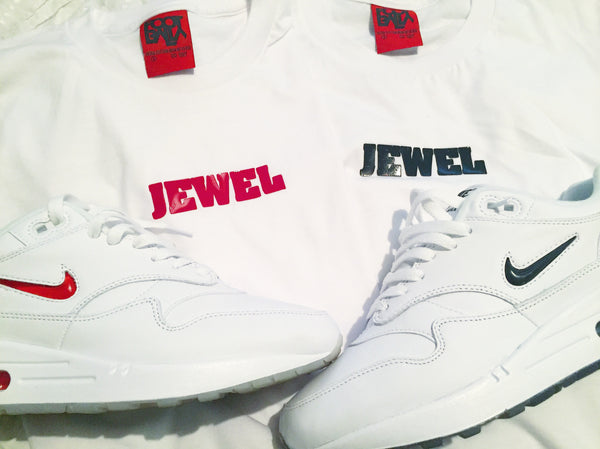 "Foot-Balla T-Shirt - Og ""Jewels"" Tee red or black graphics"