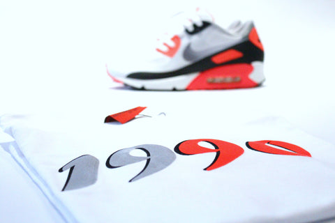 "Foot-Balla T-Shirt Infrared 90 ""OG"" White"