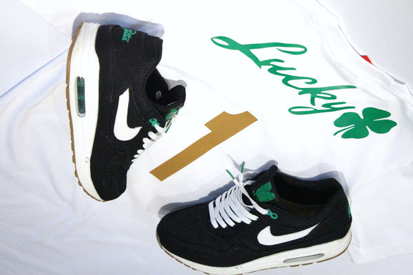 "Foot-Balla T-Shirt ""LUCKY GREEN"" WHT"