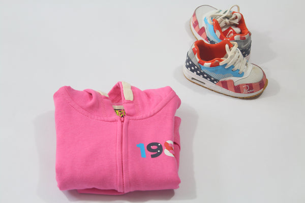 "Foot-Balla print Hoody Baby Balla kids "" PARRA 18"" (ages 6 months-3 yr old)"