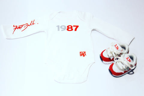 Baby Balla by Foot-Balla The Original 1 1987 Baby Grow