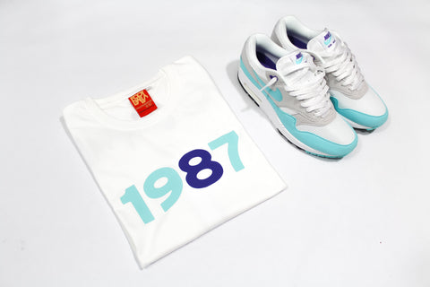"Foot-Balla T-Shirt ""OG"" AQUA 30th ANNIVERSARY"
