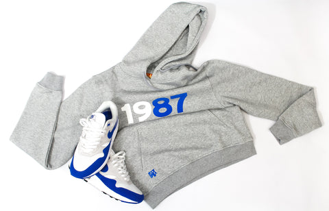 "Foot-Balla Anniversary OG Royal 87 Hoody ""1987"" men's and women's"