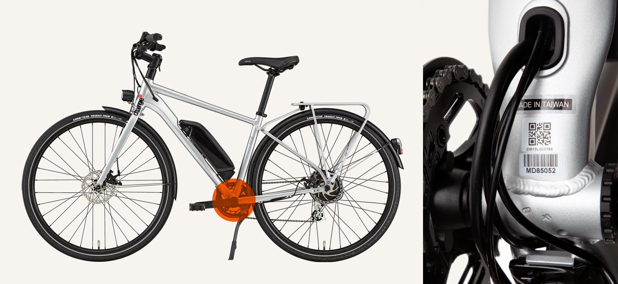 Find Charge bike serial number for registration
