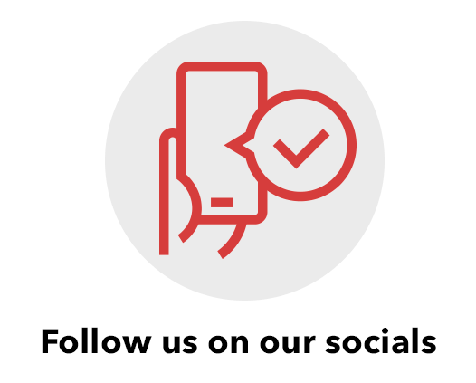 Follow us on our socials