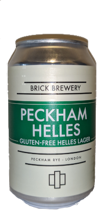 Brick Peckham GF Hells Lager 330ml Can