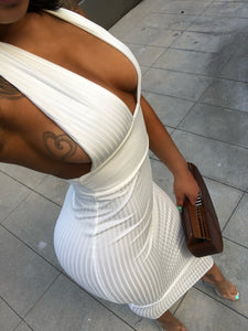 Miss Marilyn Halter Neck White Dress