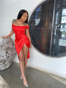 Saint Silk Off The shoulder Formal Dress