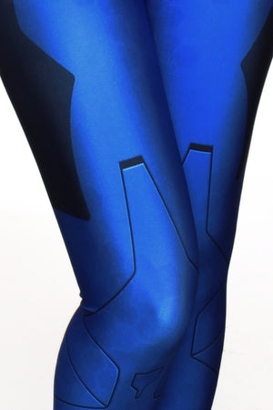 10th Element Blue Leggings
