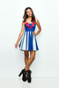 The Patriot Girl Dress (Blue Variant) - A-Line - Archived