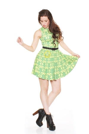 Bored Green A-Line Dress