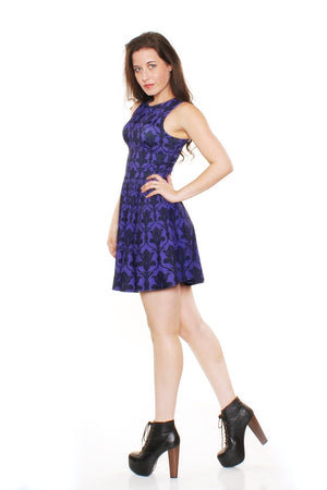 Bored Purple A-Line Dress